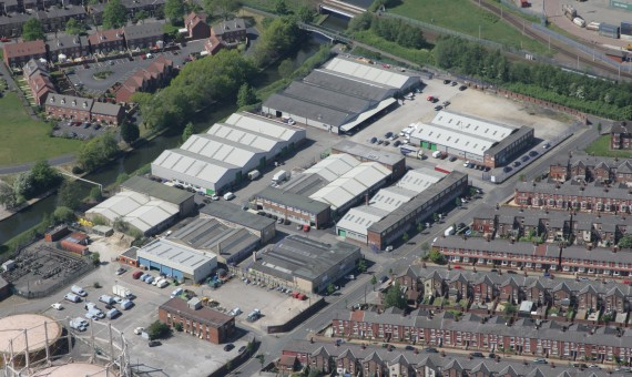 Longford Trading Estate Aerial View