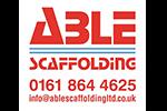 Able scaffolding company logo