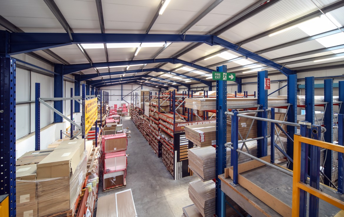 Millfield Estates Lodge Bank internal warehouse overview 1