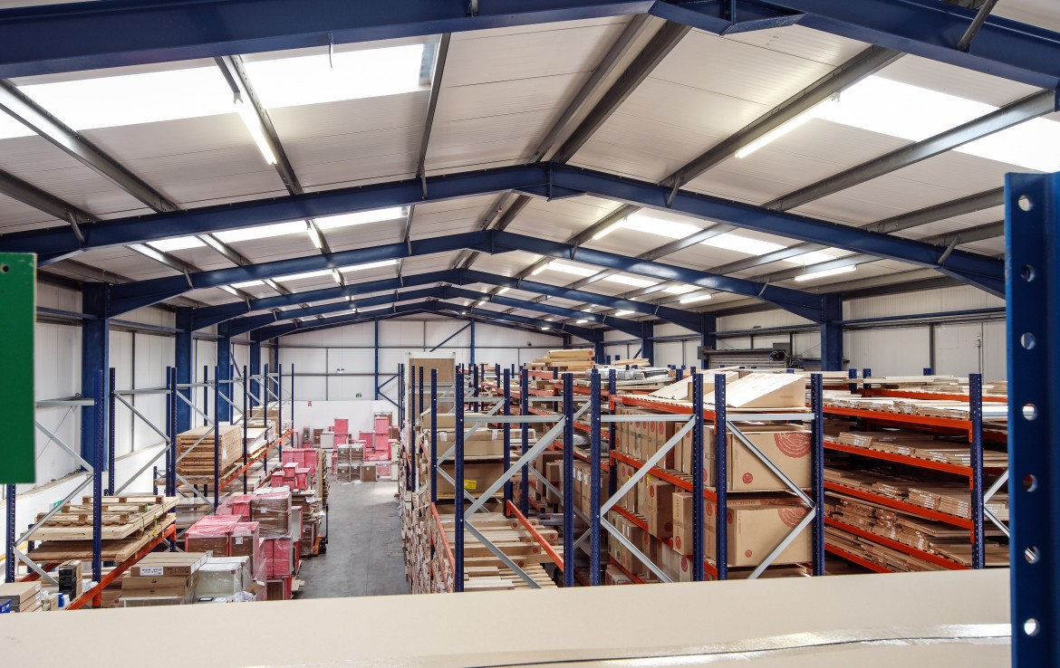 Millfield Estates Lodge Bank internal warehouse overview 3